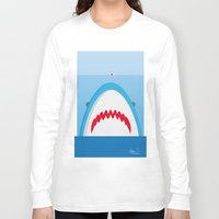 jaws Long Sleeve T-shirts featuring Jaws by Daniel Anastasio