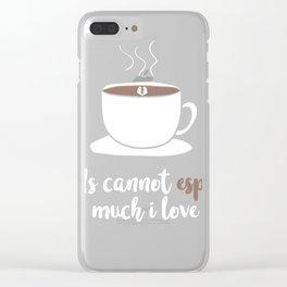 Love   Espresso 0308 Clear iPhone Case