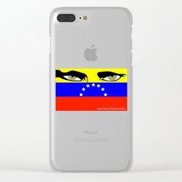 Oscar Perez Tribute (Hero) Venezuela Clear iPhone Case