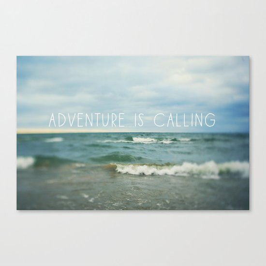 Adventure is Calling - Waves Canvas Print