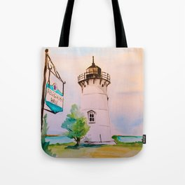 East Chop (Telegraph Hill) Lighthouse Martha's Vineyard Watercolor Tote Bag