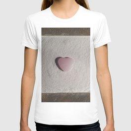 Rose Quartz heart in a zen garden T-shirt