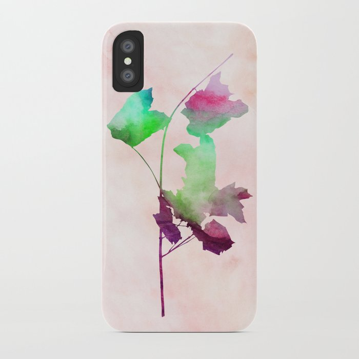 Maple_Watercolor2 by Jacqueline and Garima iPhone Case