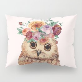Owl with Flowers Pillow Sham
