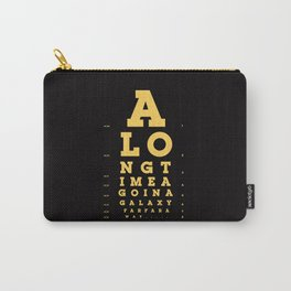 Jed Eye Chart Carry-All Pouch