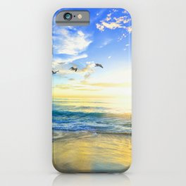 Freedom is an empty beach iPhone Case