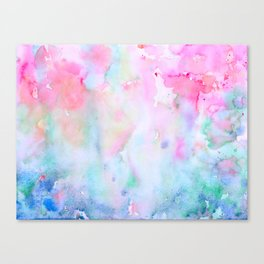 Watercolor Abstract pink Forest Canvas Print