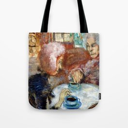 Gossipy, Humpback Old Lady's telling old stories to Herbert by Lajos Gulácsy Tote Bag