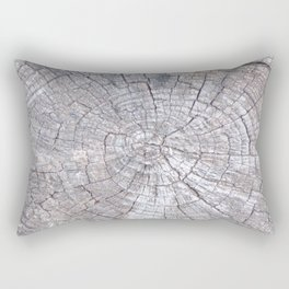 Ancient Tree Stump Grey With Age, Very Old Tree Stump Rectangular Pillow