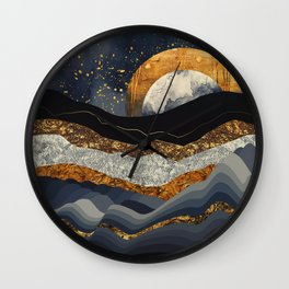 Metallic Mountains Wall Clock