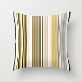 Silver and gold stripes Throw Pillow