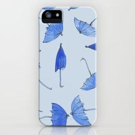 Umbrella Rainy Day Allover Print Design iPhone Case