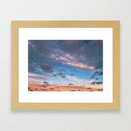 Different Clouds at Sunset Framed Art Print