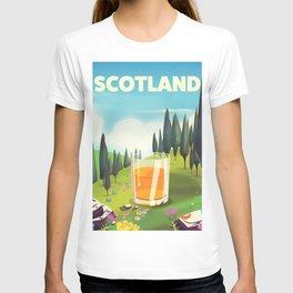 Scotland Travel poster T-shirt