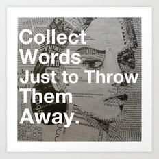 Collect words... Art Print