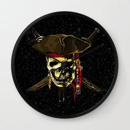 The Dark Eyes Of Pirates Wall Clock