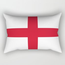 Flag of England (St. George's Cross) - Authentic version to scale and color Rectangular Pillow