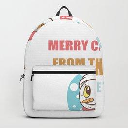 Cute Snowman Christmas Gift For Caretaker's Backpack