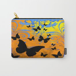 Black Butterfly Migrating Blue-Brown Fantasy Art Carry-All Pouch