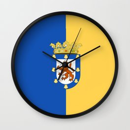 flag of santiago de Chile Wall Clock