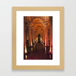 Pillars Of Light! Framed Art Print