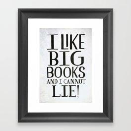 Big Books Framed Art Print