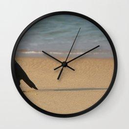 Crow on the Sand Varkalala Wall Clock
