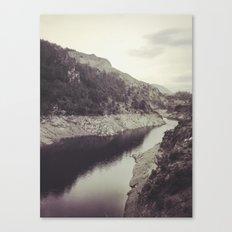 Mountain light.... Retro Canvas Print
