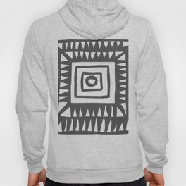 Tribal Print B&W- 02 Hoody