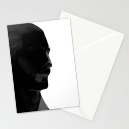 L'homme - nero Stationery Cards