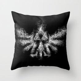 Triforce Smoke Throw Pillow