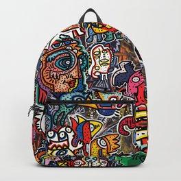 Stickers Attack Street Art Graffiti Backpack