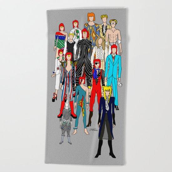 Bowie Doodle Square Beach Towel
