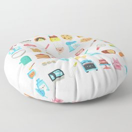 CUTE BAKERY PATTERN (CUTE CHEF BAKER) Floor Pillow