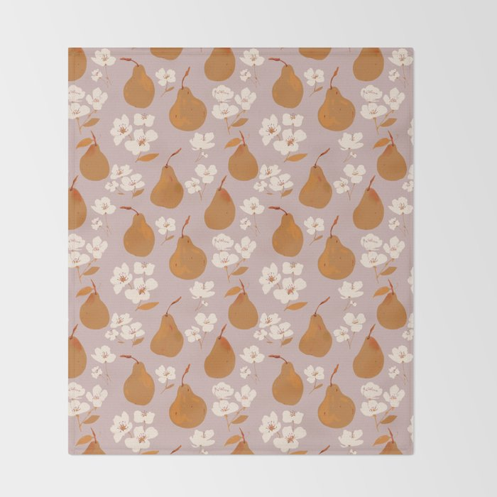 Fall Pears Throw Blanket