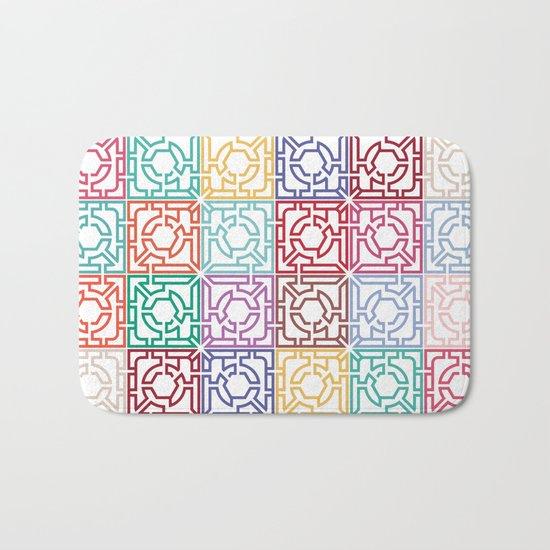 Maze Colorful Seamless Pattern Bath Mat