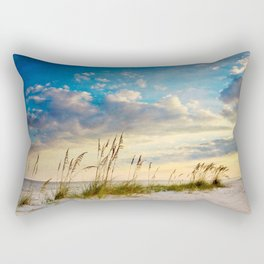 Sea Oats Beach Sunset Rectangular Pillow