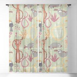 Rain forest animals 004 Sheer Curtain