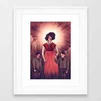 agnes Framed Art Prints featuring holy agnes by Isabel Seliger