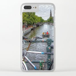 Amsterdam Bridge Canal View Clear iPhone Case