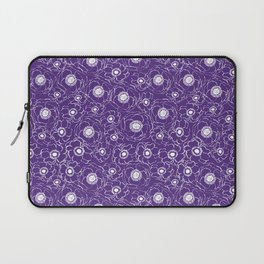 Purple and white floral pattern clemson football college university alumni varsity team fan Laptop Sleeve