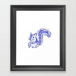 bluepen drawing - D Framed Art Print