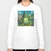 calcifer Long Sleeve T-shirts featuring best neighbor  by ururuty