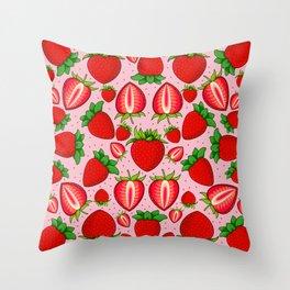 Summer Strawberry Pattern Throw Pillow