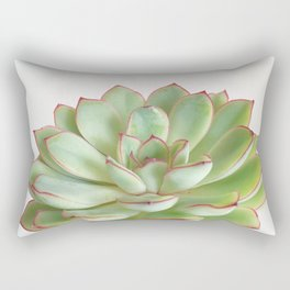 Green Succulent Rectangular Pillow