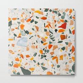 Terrazzo Pattern Metal Print