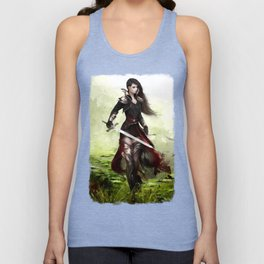 Lady knight - Warrior girl with sword concept art Unisex Tank Top