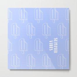 Summer Vibes - Blue Metal Print
