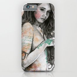 You Lied (nude girl with mandala tattoos) iPhone Case