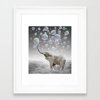 dreams Framed Art Prints featuring The Simple Things Are the Most Extraordinary (Elephant-Size Dreams) by soaring anchor designs